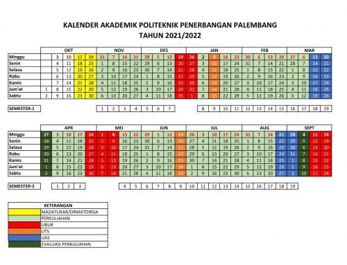 KALENDER AKADEMIK POLITEKNIK PENERBANGAN PALEMBANG TAHUN 2021/2022